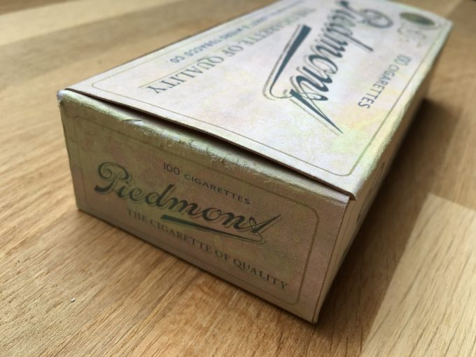 1910 PIEDMONT 100 Cigarettes Box T206 Tobacco Tin REPLICA Cardboard Advertising khristore angers france brocante ancien paquet tabac