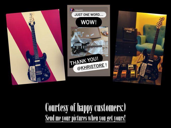 Kurt Cobain Vandallism Strat guitar Nirvana Stratocaster Grunge Happy Customers khristore auction