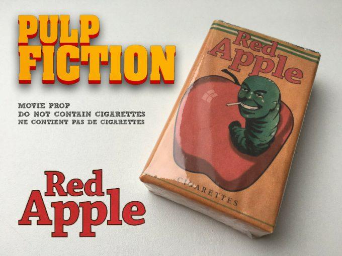 khristore red apple cigarette pack pulp fiction tarantino movie prop
