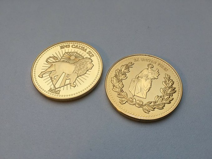1X Pièce Or John Wick Gold coin Continental Hotel High quality Movie Prop props