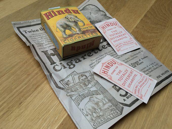 1910 HINDU Cork Tip Cigarettes Box + Cobb & Chance T206 Baseball Cards REPLICAS khristore angers france brocante affiche ancien paquet tabac