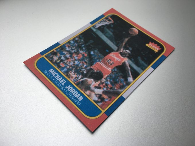 1986 MICHAEL JORDAN Card FLEER Premier NBA Basketball Chicago Bulls REPRINT khristore angers france brocante carte