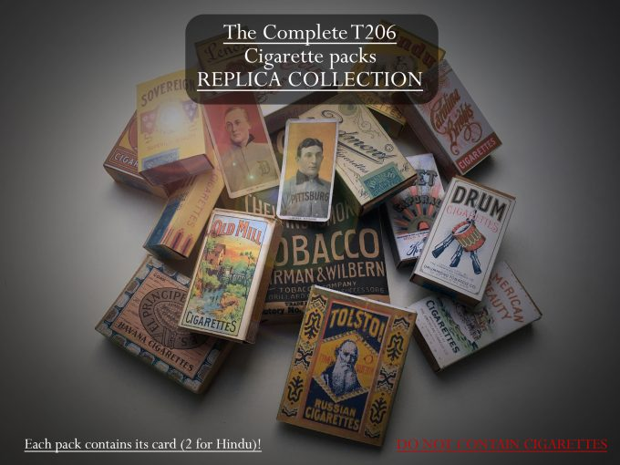 T206 COMPLETE Replica COLLECTION Cigarette pack Baseball Card Honus Wagner RARE khristore angers france brocante