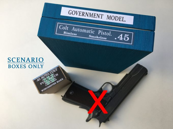 *LIMITED EDITION* COLT 1911 Blue box Colt's Revolvers Winchester 45 ACP ammo box khristore cartridges auction made in france