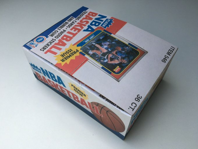 1986 NBA Fleer Box REPLICA Hand made Larry Bird Michael Jordan Premier Issue auction khristore