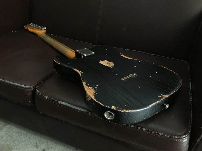 Fender-Telecaster-Custom-Shop-Heavy-Relic-by-khristore-Aged-Partcaster-1-piece-Ash-Boby-Maple-neck-Vintage-black