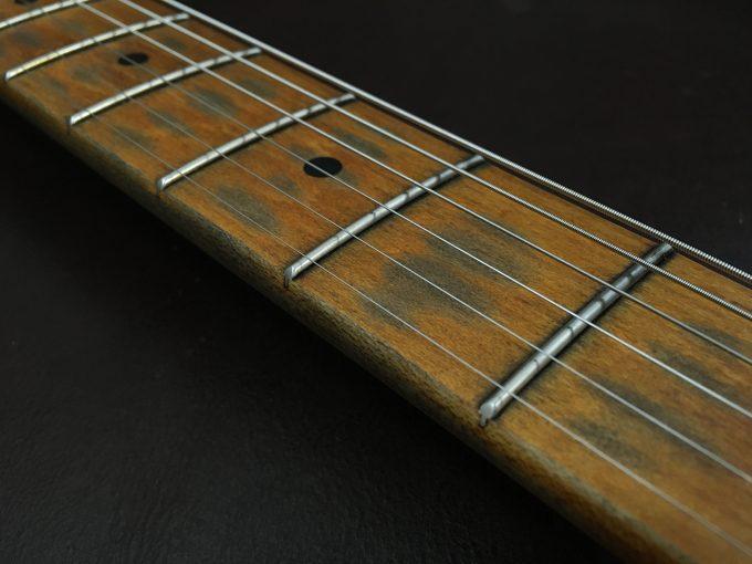 Fender Telecaster Custom Shop Heavy Relic by khristore Aged Partcaster 1 piece Ash Boby Maple neck Vintage black auction