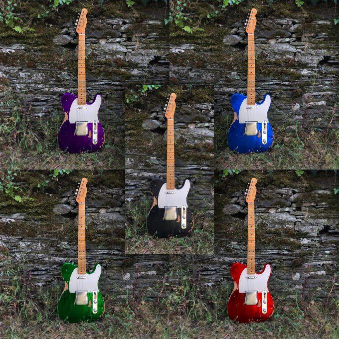 Fender Telecaster Custom Shop Heavy Relic by khristore Aged Partcaster 1 piece Ash Boby Maple neck Vintage black auction colors