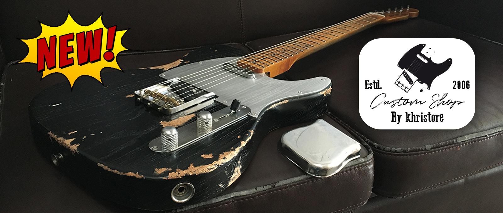 Fender-Telecaster-Custom-Shop-Heavy-Relic-by-khristore-Aged-Partcaster-1-piece-Ash-Boby-Maple-neck-Vintage-black-home