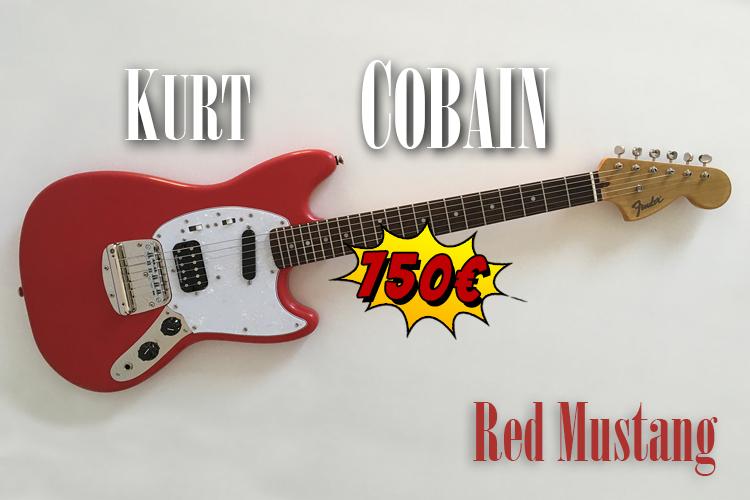 Kurt-Cobain-Fender-Red-Mustang-NPA-Nulle-Part-Ailleurs-Squier-guitar-relic-Nirvana-france-khristore-mobile