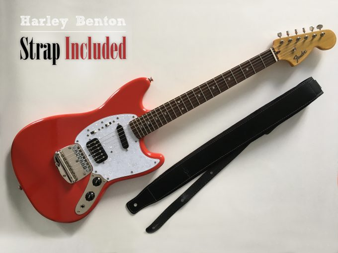 Kurt-Cobain-Fender-Red-Mustang-NPA-Nulle-Part-Ailleurs-Squier-guitar-relic-Nirvana-khristore-harley-benton-strap